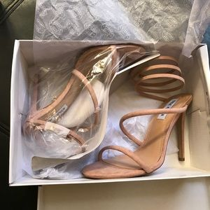 9a3c8e0b3aa New Steve Madden Tiffany Sandal Heel Blush Natural